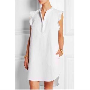 Stella McCartney white ruffled cotton-piqué dress